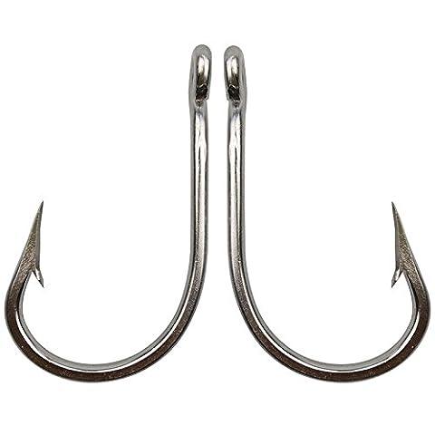 JSHANMEI ® 5pcs/lot Super Strong Sea Fishing Demon Big Game Fishing Hooks Saltwater 7691 Tuna Fish Hooks 420 Stainless Steel