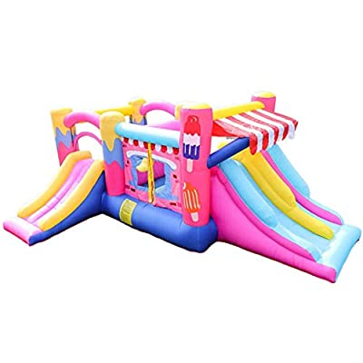 WJSW Bouncy Castles Sports Toys Children's Children's Trampoline Outdoor Slide Large Amusement Park Equipment Outdoor Children's Exercise Machine Children's Play Pool Children's from WJSW