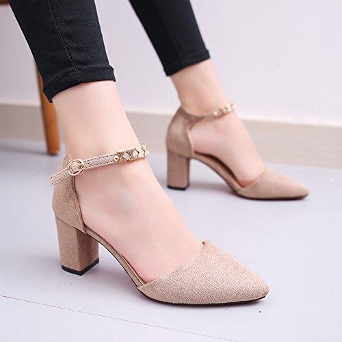 Sommer Damen Zehen flache Schuhe Sandalen ,39 pearl Pulver Talsohle Beige