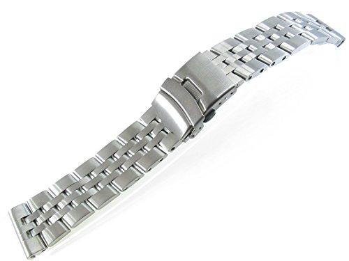 JRRS777724mm di alta qualità in acciaio INOX orologio cinturino braccialetto in titanio spazzolato solido Link