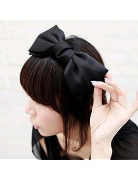 Gono Sweet gran lazo lazo pelo banda diadema accesorio para el pelo, negro, talla única