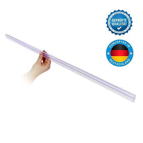 Universal Duschkabinen Dichtung | Duschdichtung für 6mm, 7mm, 8mm Glasdicke | lange Gummilippen | Duschleiste mit Wasserabweiser ()