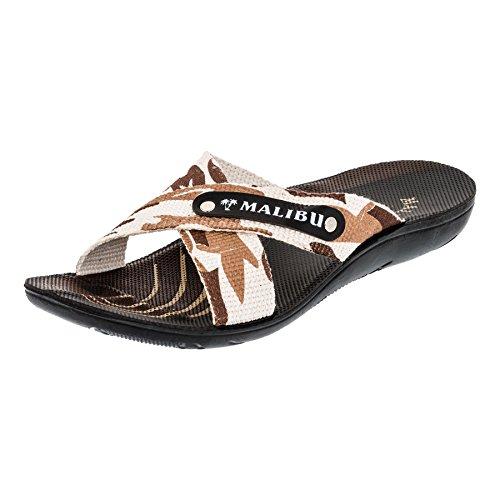 Malibu Herren Strandschuhe Sandalen Hausschuhe in Vielen Farben M372cabe Camouflage Beige 45