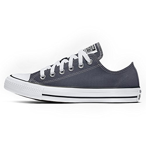 Converse Womens CTAS Ox Sharkskin Grey Canvas Trainers 40