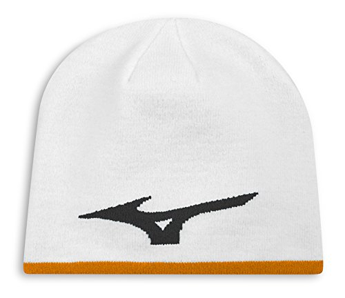 Mizuno 360 Reversible Beanie Hat Unisex White/Orange Unisex White/Orange