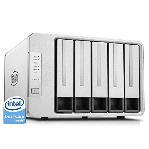 TerraMaster F5-221 NAS 5Bay Cloud Speicher Intel Dual-Core 2,0GHz Plex Media Server Netzwerkspeicher RAID (Ohne Festplatte) (Media Server-hardware)
