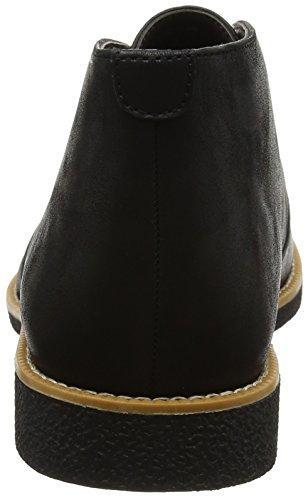 Nuovo Look Herren Pu Desert Boots Schwarz (nero)