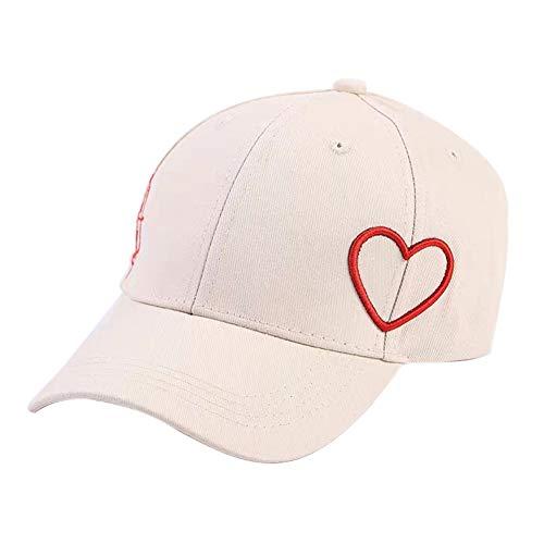 Nyutop Baseball Cap Casual Style Herz Bogen Bestickt Sonnenschirm Baumwollmischung Hut für Liebhaber (Bogen-baseball-cap)