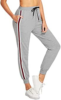 DIDK Femme Pantalon Survêtement Pantalons avec Applique Grand Taille Avoir  Poches... de DIDK e410e57676d