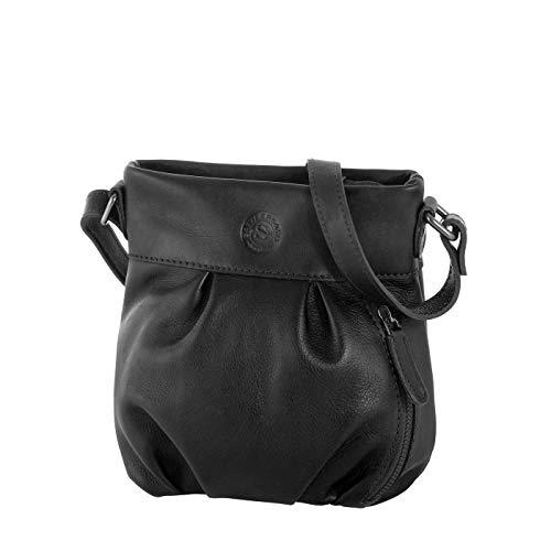 4715c8f792128 Umhängetasche The Polish Abeni Vintage-Look Leder Tasche für Damen (schwarz)