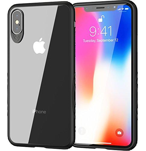 Premium iPhone X Case Hülle von XeloTech - Schmal - Griffig an den Seiten - Transparente Rückseite- Extra Kamera-Schutz (1 Aifon)