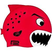 Gorro de natación para niños con diseño de pez en muchos colores y motivos, rojo