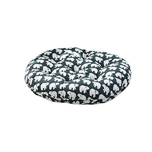 Xuan S Rundes Kissen Stoff Baumwolle Leinen Sitzkissen Rundes Meditationsstuhl Rückenkissen Japanische Futon MatteArmee Grün - Arm-futon