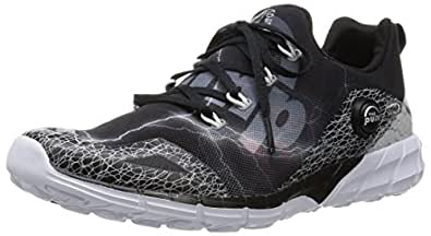 Reebok Men's Zpump Fusion 2.0 Spdr Black, Grey and White Running Shoes - 8 UK
