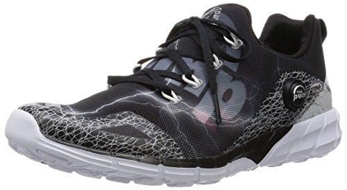 Reebok Zpump Fusion 2.0 SPDR Sneaker Hombre Zapatilla Deporte Zapatos Sport Negro, Tamaño:EU/42.5 - UK/8.5 - US/9.5