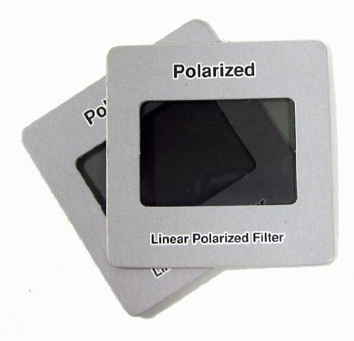 Pack of 4 Linear Polarization Polarizer Slide for Educational Physics