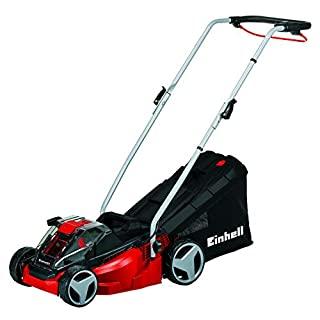 Einhell GE-CM 33 Li Kit Power X-Change 36 V Lithium Cordless Ion Lawnmower with Fast Charger (2 x 18 V, up to 200 sq m, 5-Stage Cut Height Adjustment) - Red