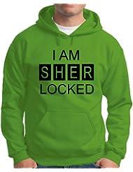 Touchlines Herren Kapuzen Pullover I AM SHER LOCKED Sweatshirt