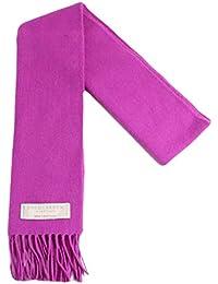 Lochcarron of Scotland foxglove Uni solide de couleur Écharpe en laine  d agneau d5eac990aed