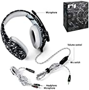 ONIKUMA K1-B Pro Camouflage Over-Ear Surround Sound Noise Cancelling Gaming Headset Microphone Bundle with Hea
