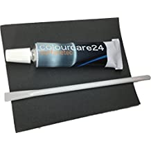 Colourcare24. Cuero líquido negro de 9ml para restaurar orificios, grietas y cortes en piel, cuero, piel sintética, símil piel de asientos de coche, interiores de polipiel, sofás, sillones y bolsos, color negro de la carpeta de colores RAL 9005