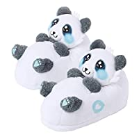 corimori 1847 (Various Animal Designs) Animal Shaped Plush Booties, Carpet Slippers, Mei the Panda, Black-White Kids  UK 8-1