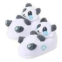 corimori 1847 (Various Animal Designs) Animal Shaped Plush Booties, Carpet Slippers, Mei the Panda, Black-White Kids  UK 8-1