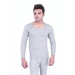 Neva Mod Mens Cotton Top (8907207011841_Milange Grey_Small)