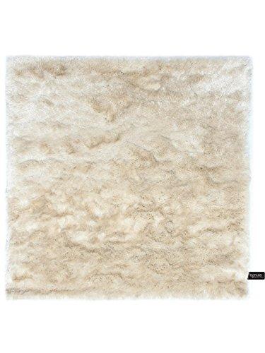 ... Benuta Shaggy Hochflor Teppich Whisper Quadratisch Beige 150x150 Cm |  Langflor Teppich Für Schlafzimmer Und Wohnzimmer ...