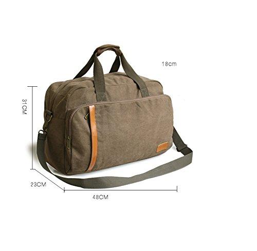 Outdoor peak Herren Jungend Canvas hochwertige Tagetasche Schultertasche Handtasche Unitasche Kuriertaschen Schulrucksack Studententasche Daypacks Reisetasche Khaki