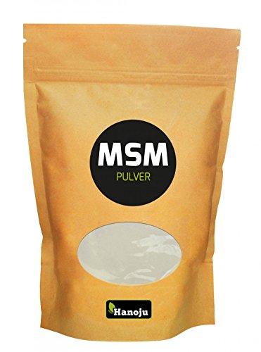 Hanoju MSM Pulver im Zip Beutel 1000 g - Nahrungsergänzungsmittel Laktose & Zuckerfrei