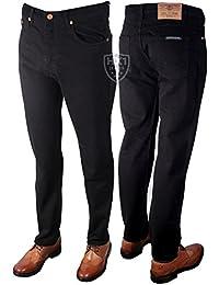 Pour Homme de la marque Aztec Jeans Coupe Droite Noir Taille 30–60