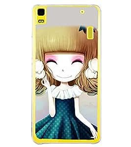 Printvisa Sweet Girlin Green Back Case Cover for Lenovo K3 Note::Lenovo A7000