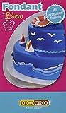 Decocino Rollfondant Blau HOCHWERTIG von DEKOBACK | Tortendeko - Rollfondant gebrauchsfertig | 1er Pack (250 g) | Fondant Blau kaufen