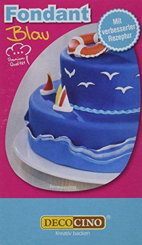Dekoback Decocino Rollfondant Blau HOCHWERTIG Tortendeko - Rollfondant gebrauchsfertig | 1er Pack (250 g) | Fondant Blau kaufen