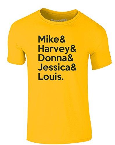 Brand88 - Suits Cast, Erwachsene Gedrucktes T-Shirt Gänseblümchen-Gelb/Schwarz