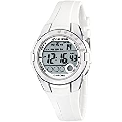Calypso Girl's Digital Watch with LCD Dial Digital Display and White Plastic Strap K5571/1