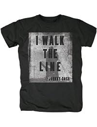 original Johnny Cash WALK THE LINE Herren T-Shirt schwarz Gr. M-XXl BRAV