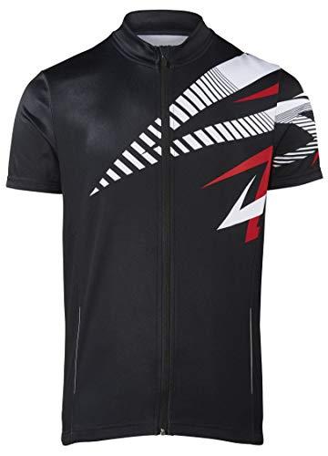 Crivit Sports Herren Fahrradtrikot Radtrikot Radshirt Radlertrikot Fahrradshirt Radlershirt (M 48/50, schwarz weiß rot)