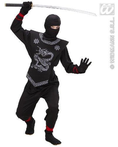 KINDERKOSTÜM - BLACK NINJA - Größe 158 (Kostüm Baby Ninja Jungen)