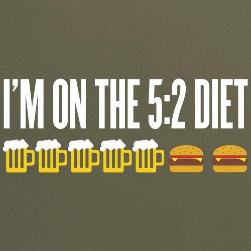Five Two Diet T-Shirt, Herren Olivgrn