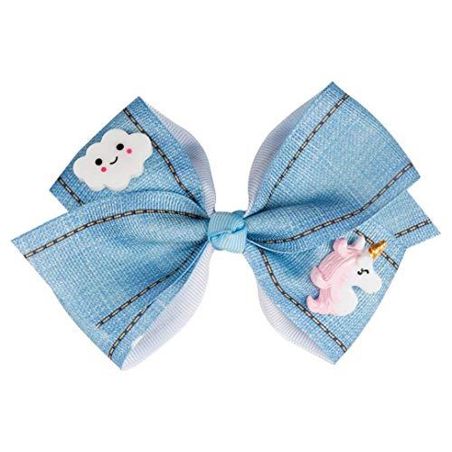 Kawaii Cartoon Haarschleifen Blue Grosgrain Ribbon Mit Einhorn Candy Haarspangen Für Mädchen Schöne Headwear Headhoop Haarschmuck 4 (Ribbon-grosgrain 8 3)