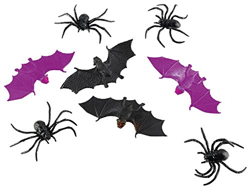 Souris Halloween Chauve Kostüm - amscan International 998391 Spinnen und Fledermäuse für Party Set