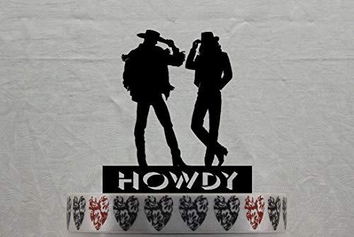 Kuchen Topper Cowboy und Cowgirl für die Western- und rustikale Hochzeit oder Rodeo Liebhaber Personalisiert mit Ihrem Namen oder Spruch - Cowgirls Party Supplies