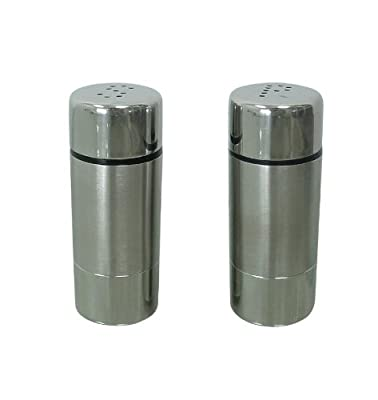 Zeller 27250 2-Piece Salt and Pepper Cellar Set / Stainless Steel 3 x 7.5 cm from Zeller Present Handels GmbH