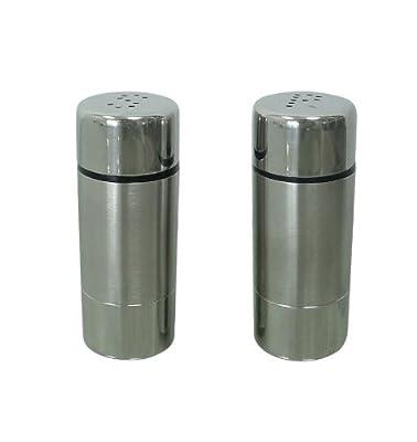 Zeller 27250 2-Piece Salt and Pepper Cellar Set / Stainless Steel 3 x 7.5 cm from Zeller Present Handels GmbH