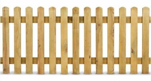 ITALFROM Steccato in Legno di Pino L.200 x H 100 Staccionata Doghe per Recinzione Giardino Aiuole