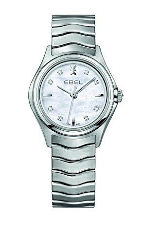 EBEL Damen-Armbanduhr EBEL WAVE LADY Analog Quarz Edelstahl 1216193