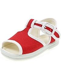 Huhua Sandals For Boys, Sandali Bambine Rosso rosso 38-38.5 EU, Rosso (rosso), 23 EU