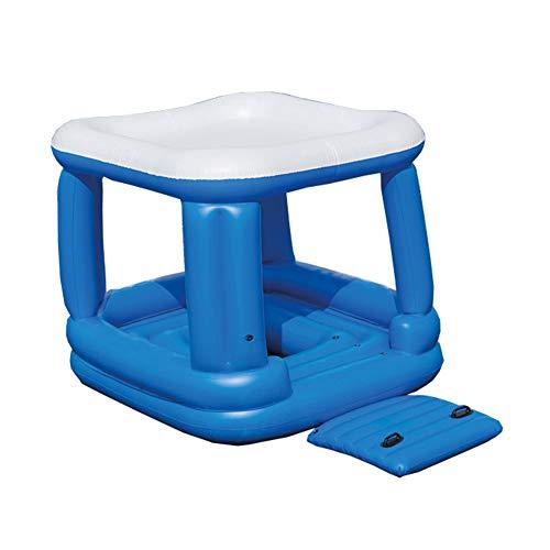 BAIJ Riesiges Aufblasbares Schwimmen Sunshade Island Lounge Raft Mit Rapid Valves Party Im Freien Sommer Wassersport Spielzeug Strand See Fluss Ozean Platz Für 4-6 Personen,B